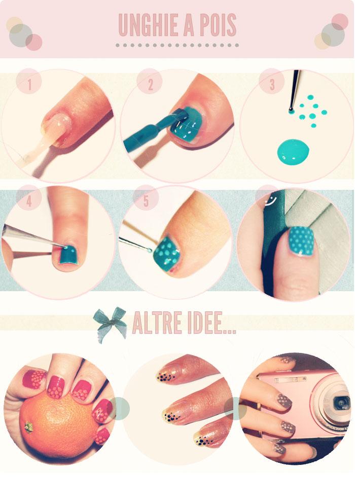 Come realizzare unghie a pois
