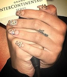 Rihanna e la nailart leopardata