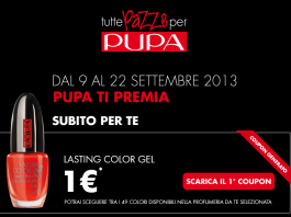 Pupa coupon 2013 per smalto lasting color GEL