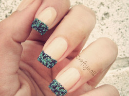 Caviar French manicure