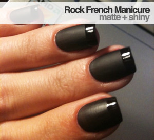 French manicure opaco / lucido