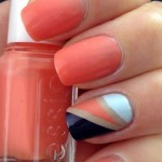 Nailart a righe scotch