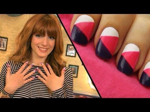colorblock nail art