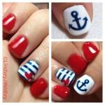 Nailart stile marinario