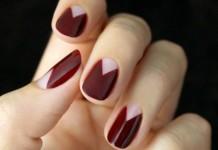 negative space nail art