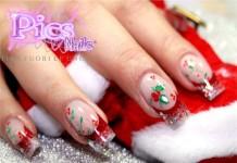 unghie gel natalizie