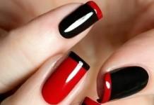 ricostruzione unghie rosse o nere